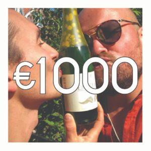 Crowdfunding: 12 flessen Gembruicius + 12 flessen Roos + B&K Cadeautjes + B&K Activiteiten + Je naam op het Ereplakkaat